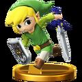 Trofeo de Toon Link SSB4 (Wii U)