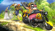 Wario montando su moto SSB4 (Wii U)