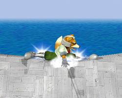 Ataque Smash hacia abajo de Fox SSBM
