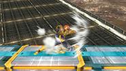 Ataque Smash lateral de Captain Falcon SSB4 (Wii U)
