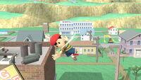 Ataque aéreo normal Ness (2) SSB4 (Wii U)