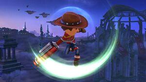 Ataque aéreo normal Tirador Mii SSB4 Wii U