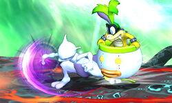 Ataque de recuperación por resbalo Mewtwo (1) SSB4 (3DS)