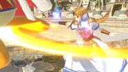 Ataque fuerte lateral Zelda SSBU