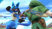 Lucario usando usando Doble Equipo en SSB4 (Wii U)