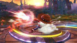 Ataque Smash hacia abajo (2) Tirador Mii SSB4 Wii U