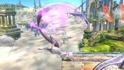 Ataque fuerte hacia arriba Mewtwo SSB4 (Wii U)