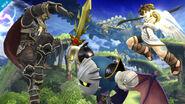 Ganondorf, Meta Knight y Pit en Llanuras de Gaur SSb4 (Wii U)