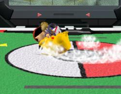 Lanzamiento trasero de Pikachu (1) SSBM