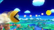 Pac-Man en Zona Windy Hill SSB4 (Wii U)