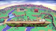 Sobrevolando el pueblo (Versión Omega) SSB4 (Wii U)