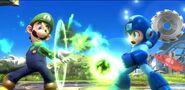 Luigi y Mega Man en Campo de batalla SSB4 (Wii U)
