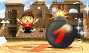 Pantalla superior de los Desafios SSB4 (3DS)