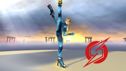 Pose de victoria de Samus Zero (1-1) SSB4 (Wii U)