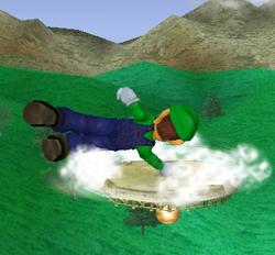 Ataque de recuperación de cara hacia arriba de Luigi (2) SSBM