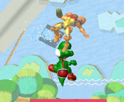 Lanzamiento hacia arriba de Yoshi (2) SSBM