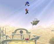 Mario aprovechando el salto del muelle SSBB