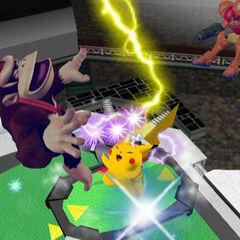 Pikachu usando Trueno en <i><a href=