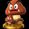 Trofeo de Goomba gigante SSB4 (Wii U)