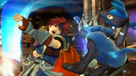 Roy usando Doble danza del sable SSB4 (Wii U)