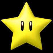 Superestrella en los juegos de Mario