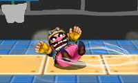 Ataque Smash hacia abajo de Wario (1) SSB4 (3DS)