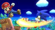 Ataque aéreo hacia atrás Sonic SSB4 (Wii U)