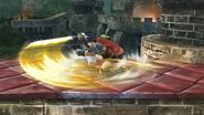 Ataque de recuperación boca arriba de Ike (2) SSB4 (Wii U)