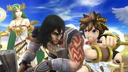 Créditos Modo Leyendas de la lucha Pit SSB4 (Wii U)