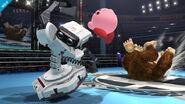 R.O.B., Kirby y Donkey Kong en el Cuadrilátero SSB4 (Wii U)