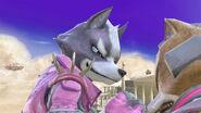 Wolf y Fox en Templo de Palutena SSBU