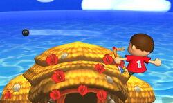 Ataque aéreo hacia atrás Aldeano SSB4 (3DS)