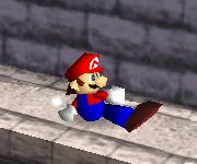 Ataque fuerte hacia abajo de Mario SSB