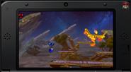Moltres en el Campo de Batalla SSB4 (3DS)