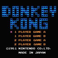Pantalla de título de la versión para NES.