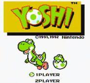 Pantalla de titulo de Yoshi
