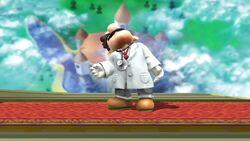 Pose de espera 1 Dr. Mario SSB4 (Wii U)