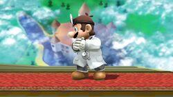 Pose de espera 2 Dr. Mario SSB4 (Wii U)