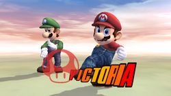 Pose de victoria lateral (1) Mario SSBB
