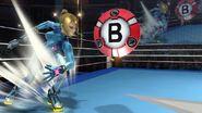 Samus Zero lanzando una Bomba inteligente en Super Smash Bros. 4