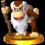 Trofeo de CrankyKong SSB4 (3DS)