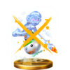 Trofeo de Pintura de Mario oscuro SSB4 (Wii U)