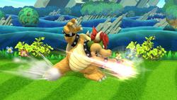 Ataque fuerte lateral de Bowser (3) SSB4 (Wii U)