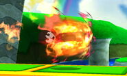 Karateka Mii usando Patada ardiente SSB4 (3DS) (2)