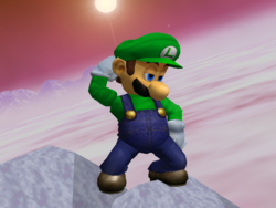 Luigi pose espera Melee (1)