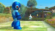 Mega Man y la entrenadora Wii Fit en Neburia - (SSB. for Wii U)
