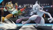 Mewtwo y Fox en el Cuadrilátero SSB4 (Wii U)