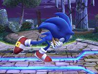 Agarre corriendo Sonic SSBB