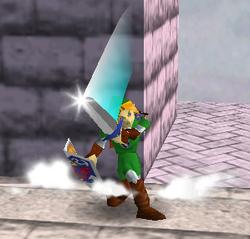 Ataque Smash hacia arriba de Link (2) SSB