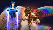 Créditos Modo Leyendas de la lucha Diddy Kong SSB4 (3DS)
